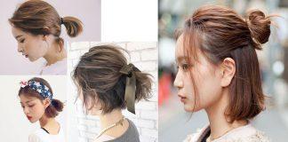 cách buộc tóc ngắn đẹp đi học dễ thương