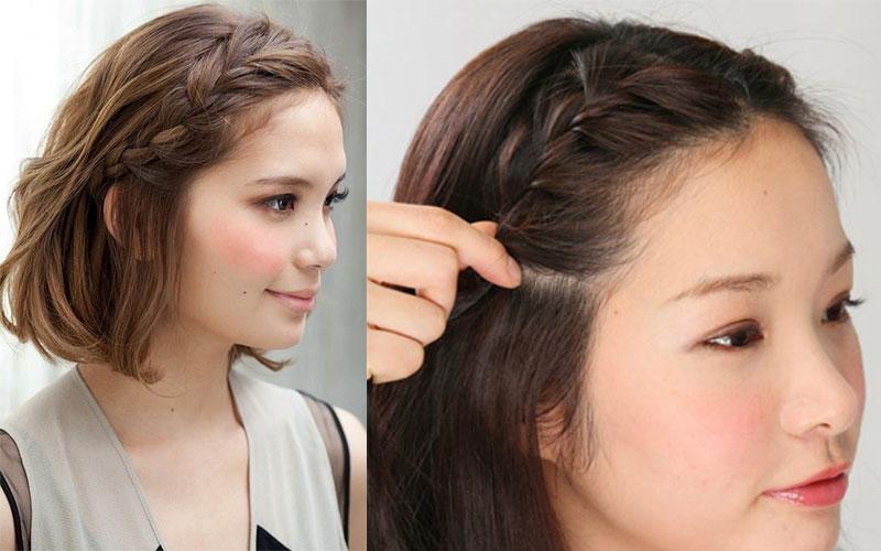 tóc ngắn tết mái
